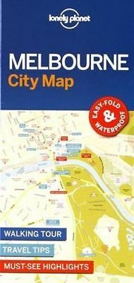 Melbourne City Map - New - Lonely Planet - 2017