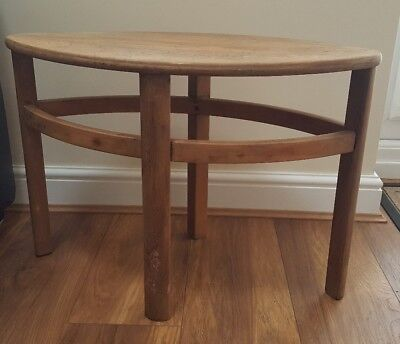 Vintage Wooden Oval Small Coffee Table