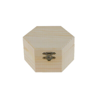 Natural Wood DIY Unfinished Plain Wooden Jewelry Box Unpainted Case Organizer