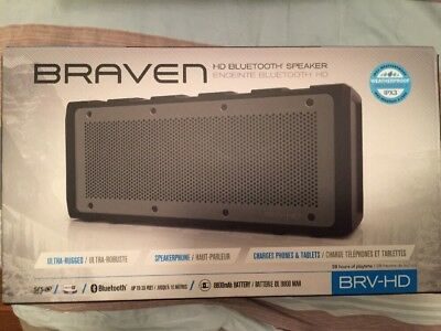 Braven BRV-HD Portable Wireless Speaker - Black/Grey