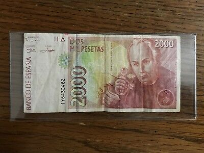 SPAIN 🇪🇸 🇪🇸 2000 Pesetas Banknote World Money 1992 - UNC Foreign Currency