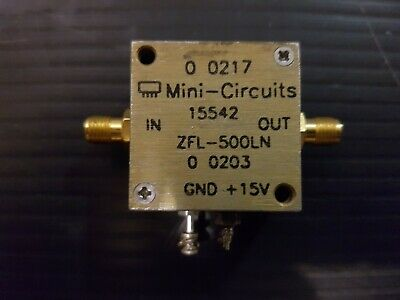 Mini-Circuits ZFL-500LN Low Noise Amplifier 0.1 to 500 MHz