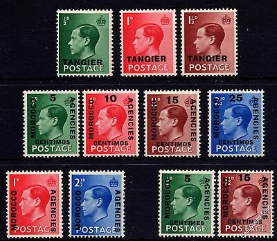 Morocco Agencies Edward VIII Definitives Complete Set of 11 Unmounted Mint