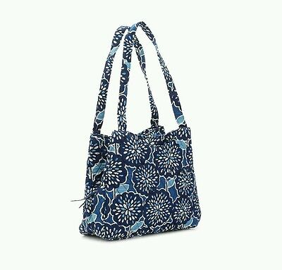 VERA BRADLEY Triple Compartment Handbag PETAL SPLASH 15227-381