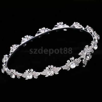 Wedding Bridal Crystal Flower Tiara Crown Headdress Headband Hair Jewelry