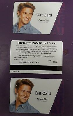 GREAT CLIPS GIFT CARD from the 2017  collection set NO VALUE NEW