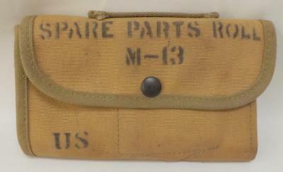Vintage Wwii Spare Parts Roll M-13 Us Army Roll Pouch W/Handle ~135