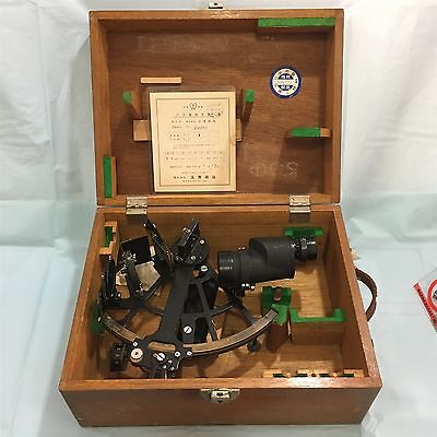 Vintage Tamaya Marine Sextant with Wooden Case. Free Shipping