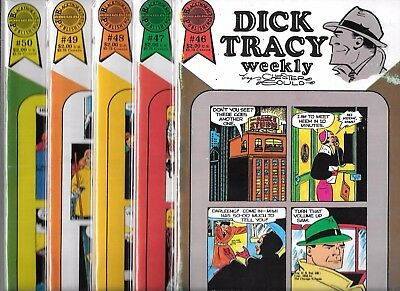 Dick Tracy Weekly Lot Of 5 - #46 #47 #48 #49 #50 (Fn) Blackthorne Publishing