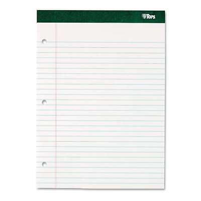 TOPS Double Docket Writing Pad, 8 1/2 x 11 3/4, Legal/Wide, Whit 025932633799