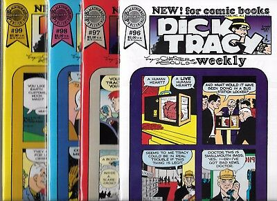 Dick Tracy Weekly Lot Of 4 - #96 #97 #98 #99 (Nm-) Blackthorne Publishing