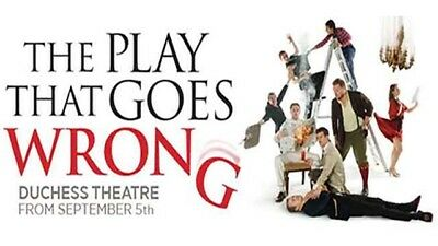 3x The Play That Goes Wrong in Dutchess Theatre, London November 5th 2017