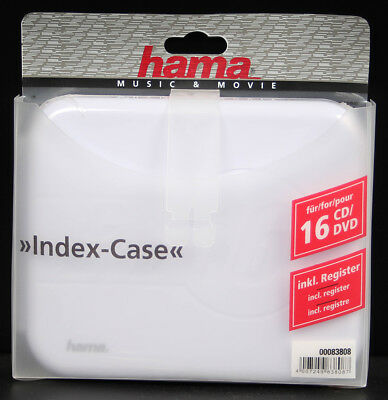 Hama CD/DVD Index-Case 16, Schwarz