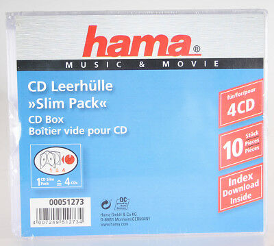 Hama CD-Slim-Pack 4, 10er-Pack