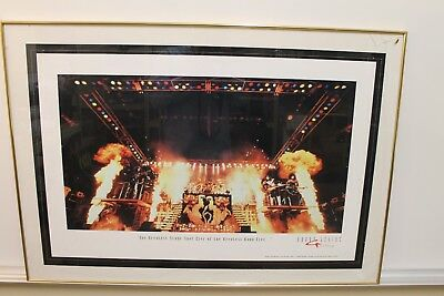 Kiss Alive Ii Stage Shot Lithograph/poster By Barry Levine 1997