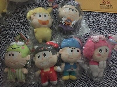 Osomatsu-san x SANRIO CHARACTERS - set of 6  large mascot with ball chain