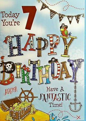 Birthday Cards For 7 Years Oldgirlcutegift Quality Different Designs