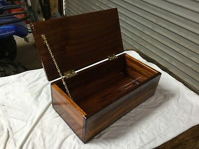 Vintage mahogany ditty box