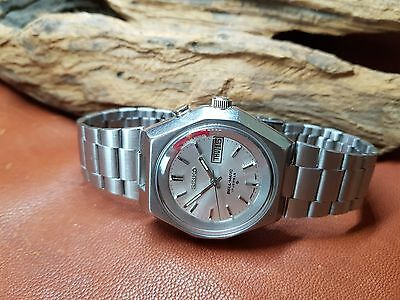 Rare Vintage Seiko Bell Matic Silver Dial Daydate Japan 4006A Man's Watch