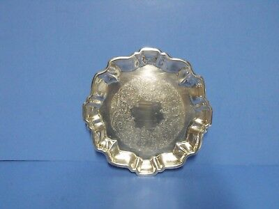 "Vintage Footed Silver Plated  Candy Dish  6 1/2"" Diameter by Wallace # 1525"