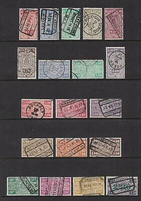 BELGIUM - 1923 Railway Parcels stamps + 1924 surcharge, used