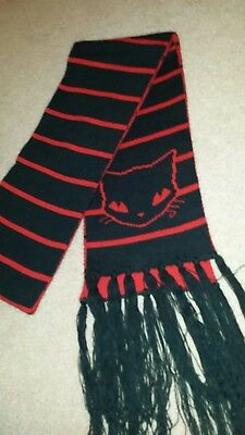 Rare-Emily The Strange Red and Black Scarf