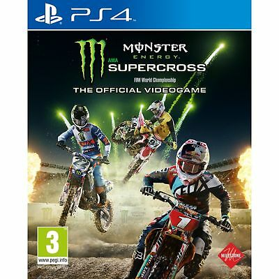 Monster Energy Supercross - The Official Videogame PS4 Game Brand New In Stock