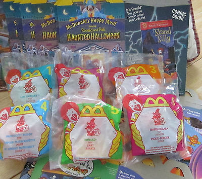 Vintage Happy Meals Haunted Halloween Complete Set With Meal Boxes 1998 Mib