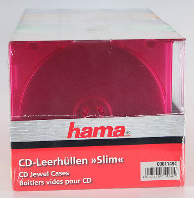 Hama CD DVD Slim Box farbig 25er Pack
