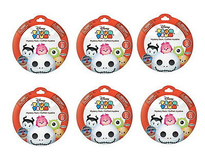 Lot of 6: Disney Tsum Tsum Collectible Figure Blind Pack Series 8