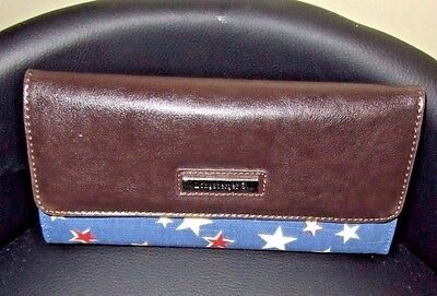 LONGABERGER AMERICAN STARBURST Large WALLET w/ Removable CHECKBOOK  FABRIC NWT