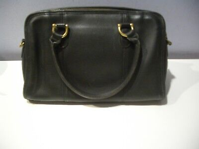 Vintage Coach Beaumont Black Leather Satchel Speedy Bag  9871 Made In  Usa