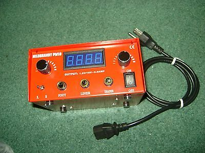 Hildbrant Abrams Pw10 Tattoo Dual Machine Power Supply New Unused  Great Conditi