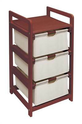 Badger Basket Hamper w Drawers in Cherry Finish [ID 49821]