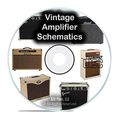 792 Vintage Amplifier Schematics, Fender Fisher Marantz Garnet Crate CD PDF G83