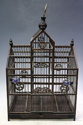 A&A Fine Beautiful Chinese huge Rosewood carving birdcage