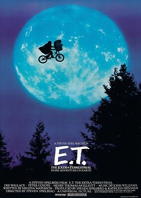 E.T. the Extra Terrestrial Classic Vintage Movie Large Poster Art Print A0 A1 A2
