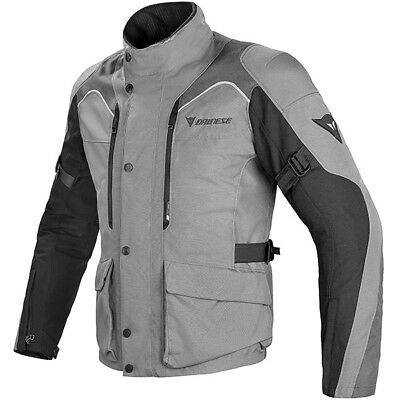 Dainese Tempest D-Dry Textile Motorcycle Jacket - Castle Rock/Black/Dark Grey