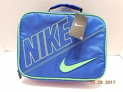 buy online 72fdd a321d Nike Swoosh Insulated Lunch Box Bag Blue, Neon Green New 9A2217-U89 NWT