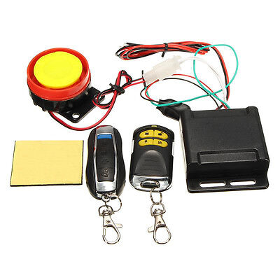 Motorcycle Anti-theft Alarm Security System Remote Control Engine Kit 125db 12V