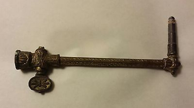 Vintage Victorian Solid Brass Gas Wall Light Fixture Nice Details Excellent