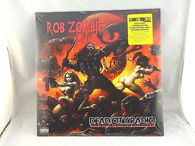 """ROB ZOMBIE /""""DEAD CITY RADIO 2013/"""" BLACK T-SHIRT NEW OFFICIAL ADULT MUSIC WHITE"""