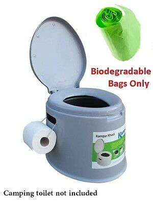 12 Portable Camping Toilet Compostable Biodegradable Bags Only for Outwell Kampa