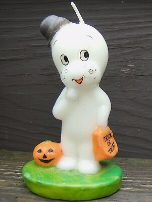 Casper Friendly Ghost Halloween Candle 1986 Harvey Publications United Silver