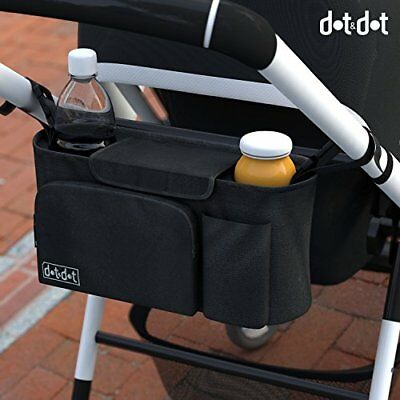 New Universal Stroller Organizer and Hooks Accessories Pack 2 Cup Holder Perfect
