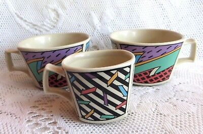 Rosenthal Flash  2 Cups & 1 Demi Tasse Cup - Excellent Condition