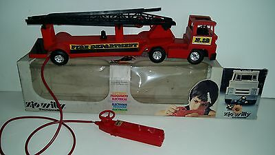 Vintage 1980's electrical remote control-RC FIRE DEPARTMENT CAR-W.MENNELLA-RARE