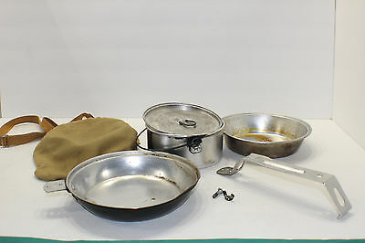 Vintage Boy Scouts of America Cooking Kit Camping Pan Plate with Canvas Case