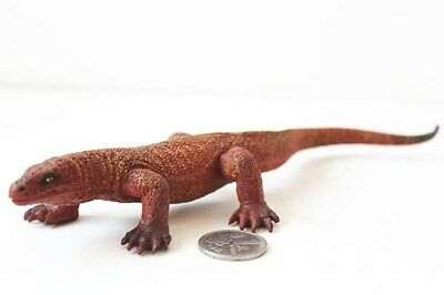 Bullyland Retired Komodo Dragon Gaint Lizard huge PVC Figure RARE