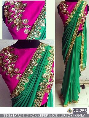 Indian Wedding Designer Traditional Bridal Saree Ethnic Sari Party Wear New